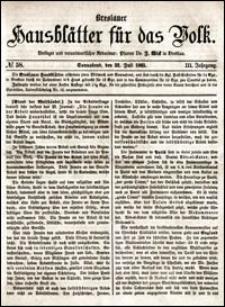 Breslauer Hausblätter für das Volk. Jg. 3, Nr. 58 (1865)