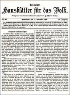 Breslauer Hausblätter für das Volk. Jg. 3, Nr. 90 (1865)
