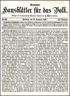 Breslauer Hausblätter für das Volk. Jg. 3, Nr. 99 (1865)