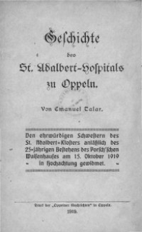 Geschichte des St. Adalbert-Hospitals zu Oppeln