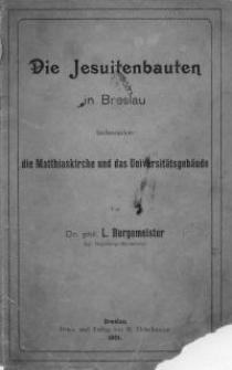 Die Jesuitenkunst in Breslau : Studie