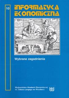 Prace Naukowe Akademii Ekonomicznej im. Oskara Langego we Wrocławiu, 2007, Nr 1150