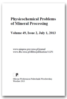 Physicochemical Problems of Mineral Processing. Vol. 49, 2013, Issue 2