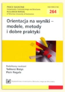 Metody pomiaru efektywności banków. Prace Naukowe Uniwersytetu Ekonomicznego we Wrocławiu = Research Papers of Wrocław University of Economics, 2012, Nr 264, s. 413-431