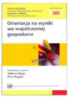 Pomiar jakości procesu realizacji usługi bankowej. Prace Naukowe Uniwersytetu Ekonomicznego we Wrocławiu = Research Papers of Wrocław University of Economics, 2012, Nr 265, s. 260-270