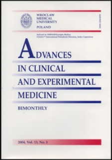 Advances in Clinical and Experimental Medicine, Vol. 13, 2004, nr 3