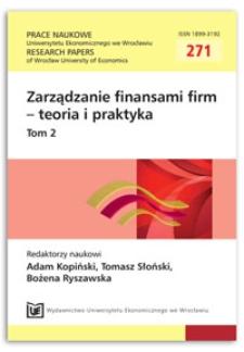 The impact of seasonality on the level of working capital needs. Prace Naukowe Uniwersytetu Ekonomicznego we Wrocławiu = Research Papers of Wrocław University of Economics, 2012, Nr 271, T. 2, s. 203-214