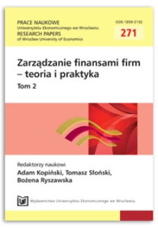 Źródła finansowania wybranych przedsięwzięć w zakresie produkcji energii z zasobów odnawialnych w Polsce. Prace Naukowe Uniwersytetu Ekonomicznego we Wrocławiu = Research Papers of Wrocław University of Economics, 2012, Nr 271, T. 2, s. 259-269
