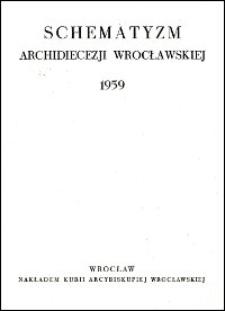 Schematyzm Archidiecezji Wrocławskiej. 1959