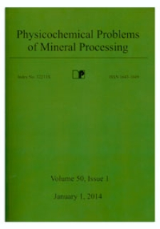 Physicochemical Problems of Mineral Processing. Vol. 50, 2014, Issue 1