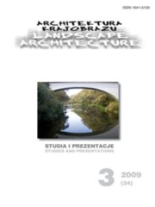 Architektura Krajobrazu : studia i prezentacje 3, 2009