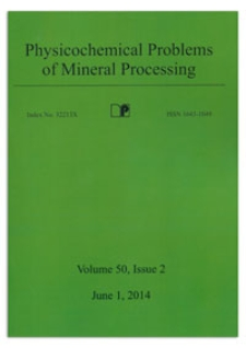 Physicochemical Problems of Mineral Processing. Vol. 50, 2014, Issue 2