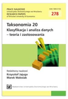 Metody porządkowania liniowego w polskiej taksonomii - pakiet pllord. Prace Naukowe Uniwersytetu Ekonomicznego we Wrocławiu = Research Papers of Wrocław University of Economics, 2013, Nr 278, s. 54-62