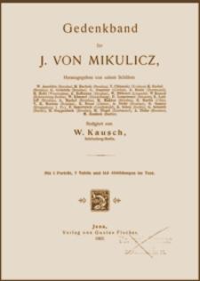 Gadenkband für J. Von Mikulicz