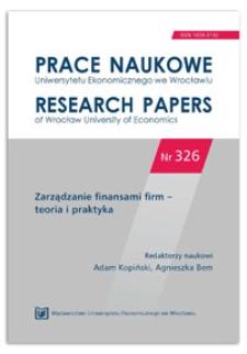 Zdolność konkurencyjna a rentowność przedsiębiorstw w Polsce w latach 2001-2010. Prace Naukowe Uniwersytetu Ekonomicznego we Wrocławiu = Research Papers of Wrocław University of Economics, 2014, nr 326, s. 318-327
