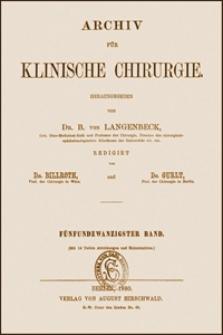 Zur Sprayfrage, Archiv für Klinische Chirurgie, 1880, Bd. 25, S. 707-751