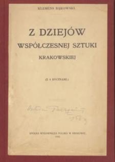 Z dziejów współczesnej sztuki krakowskiej