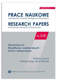 Wykorzystanie informacji granularnej w analizie wymagań rynku pracy. Prace Naukowe Uniwersytetu Ekonomicznego we Wrocławiu = Research Papers of Wrocław University of Economics, 2014, Nr 328, s. 222-229