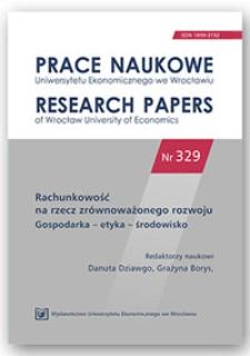 Raportowanie danych w obszarach środowiskowym i społecznym w publicznych spółkach sektora energetycznego. Prace Naukowe Uniwersytetu Ekonomicznego we Wrocławiu = Research Papers of Wrocław University of Economics, 2014, Nr 329, s. 45-53