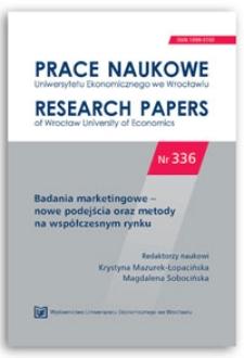 Facebook jako obszar prowadzenia badań marketingowych. Prace Naukowe Uniwersytetu Ekonomicznego we Wrocławiu = Research Papers of Wrocław University of Economics, 2014, Nr 336, s. 339-347