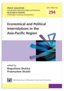 ECFA and its implications for China-Taiwan relations. Prace Naukowe Uniwersytetu Ekonomicznego we Wrocławiu = Research Papers of Wrocław University of Economics, 2013, Nr 294, s. 88-97