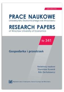 Jakość przestrzeni publicznej w rozwoju aglomeracji miejskich. Prace Naukowe Uniwersytetu Ekonomicznego we Wrocławiu = Research Papers of Wrocław University of Economics, 2014, Nr 341, s. 245-253