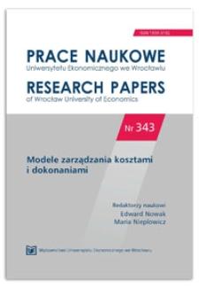 Metoda Data Envelopment Analysis (DEA) w ocenie efektywności podmiotów. Prace Naukowe Uniwersytetu Ekonomicznego we Wrocławiu = Research Papers of Wrocław University of Economics, 2014, Nr 343, s. 364-375