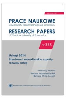 Innowacje w usługach instytucji kultury. Prace Naukowe Uniwersytetu Ekonomicznego we Wrocławiu = Research Papers of Wrocław University of Economics, 2014, Nr 355, s. 264-278