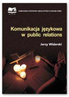 Komunikacja językowa w public relations