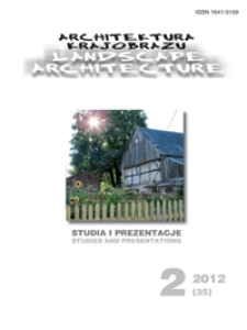Architektura Krajobrazu : studia i prezentacje 2, 2012