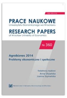 Wsparcie finansowe konkurencyjności sektora agrobiznesu w ramach Programu Rozwoju Obszarów Wiejskich. Prace Naukowe Uniwersytetu Ekonomicznego we Wrocławiu = Research Papers of Wrocław University of Economics, 2014, Nr 360, s. 178-187