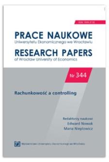Ugruntowane teorie o rachunkowości zarządczej. Prace Naukowe Uniwersytetu Ekonomicznego we Wrocławiu = Research Papers of Wrocław University of Economics, 2014, Nr 344, s. 323-330