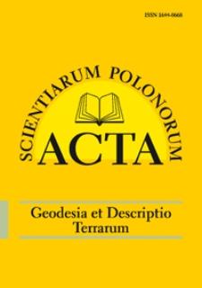 Acta Scientiarum Polonorum. Geodesia et Descriptio Terrarum 2, 2010