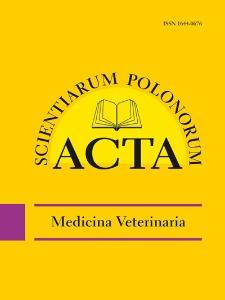 Acta Scientiarum Polonorum. Medicina Veterinaria 4, 2011