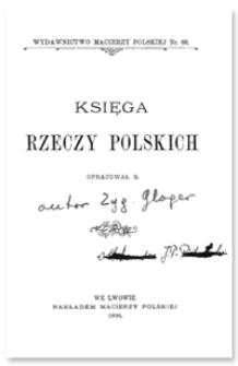 Księga rzeczy polskich
