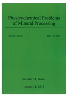Physicochemical Problems of Mineral Processing. Vol. 51, 2015, Issue 1