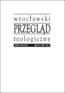 Wrocławski Przegląd Teologiczny, R.5 (1997), nr 1