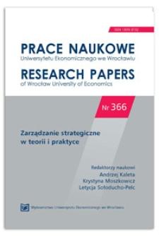 Identyfikacja modelu tworzenia wartości w sieci na przykładzie Forum Edukacji Biznesowej. Prace Naukowe Uniwersytetu Ekonomicznego we Wrocławiu = Research Papers of Wrocław University of Economics, 2014, Nr 366, s. 544-559