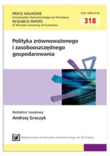 Udzielanie pomocy publicznej w kontekście zasad zrównoważonego rozwoju. Prace Naukowe Uniwersytetu Ekonomicznego we Wrocławiu = Research Papers of Wrocław University of Economics, 2013, Nr 318, s. 210-219