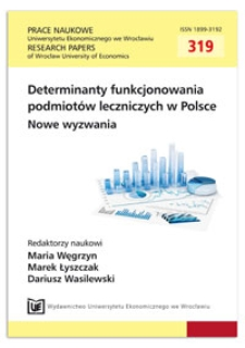 Nowoczesne metody zarządzania szpitalem. Prace Naukowe Uniwersytetu Ekonomicznego we Wrocławiu = Research Papers of Wrocław University of Economics, 2013, Nr 319, s. 168-176