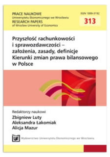 Model szacowania Utraty wartości instrumentów finansowych w założeniach MSSF 9 – rachunkowość czy inżynieria finansowa? Prace Naukowe Uniwersytetu Ekonomicznego we Wrocławiu = Research Papers of Wrocław University of Economics, 2013, Nr 313, s. 170-188