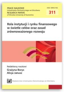 Neutralność pieniądza a koncepcja zrównoważonego rozwoju. Prace Naukowe Uniwersytetu Ekonomicznego we Wrocławiu = Research Papers of Wrocław University of Economics, 2013, Nr 311, s. 107-115