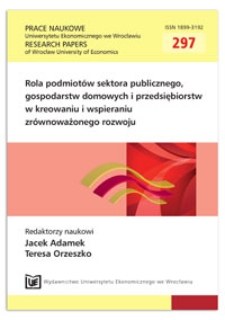 Finansowanie gospodarki odpadami komunalnymi. Prace Naukowe Uniwersytetu Ekonomicznego we Wrocławiu = Research Papers of Wrocław University of Economics, 2013, Nr 297, s. 215-223