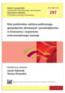 Środki z UE w gospodarstwach rolnych jako element strategii zrównoważonego rozwoju obszarów wiejskich w Polsce. Prace Naukowe Uniwersytetu Ekonomicznego we Wrocławiu = Research Papers of Wrocław University of Economics, 2013, Nr 297, s. 328-336