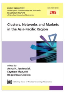 Knowledge cluster initiatives by MEXT – case of Tokai Region Nanotechnology Manufacturing Cluster in Japan. Prace Naukowe Uniwersytetu Ekonomicznego we Wrocławiu = Research Papers of Wrocław University of Economics, 2013, Nr 295, s.27-40