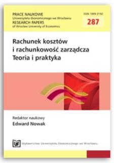 Moment uznania kosztów w rachunku wyniku podatkowego. Prace Naukowe Uniwersytetu Ekonomicznego we Wrocławiu = Research Papers of Wrocław University of Economics, 2013, Nr 287, s. 173-182