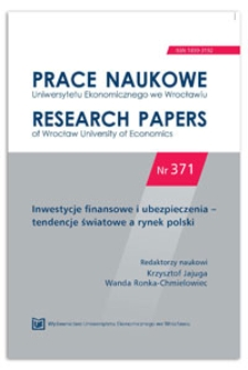 Wpływ strategii inwestycyjnej ubezpieczonego na rozkład wartości portfela ubezpieczeniowego w UFK. Prace Naukowe Uniwersytetu Ekonomicznego we Wrocławiu = Research Papers of Wrocław University of Economics, 2014, Nr 371, s. 112-122