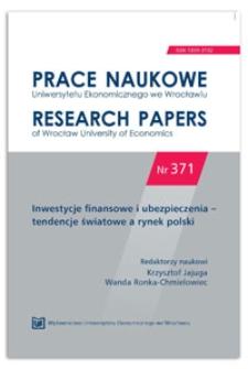 Determinanty zagrożenia finansowego przedsiębiorstw sektora TSL w Polsce. Prace Naukowe Uniwersytetu Ekonomicznego we Wrocławiu = Research Papers of Wrocław University of Economics, 2014, Nr 371, s. 149-164