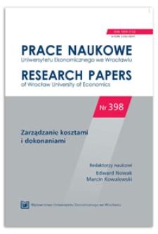 Koszty i korzyści a ryzyko ubezpieczenia należności. Prace Naukowe Uniwersytetu Ekonomicznego we Wrocławiu = Research Papers of Wrocław University of Economics, 2015, Nr 398, s. 168-178