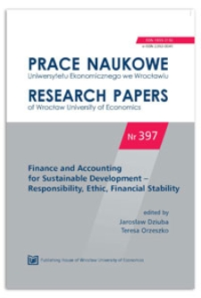 Education as an operation area of domestic listed bank foundations. Prace Naukowe Uniwersytetu Ekonomicznego we Wrocławiu = Research Papers of Wrocław University of Economics, 2015, Nr 397, s. 100-125